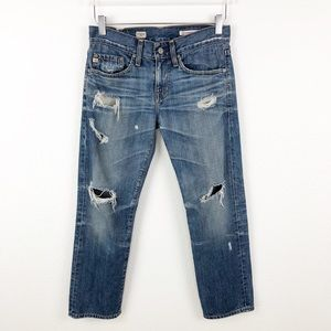 AG | Ex-Boyfriend Crop Jeans 17 Years Damaged 24
